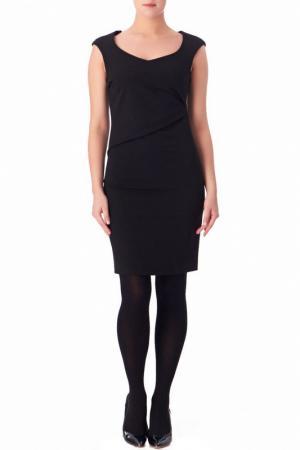 Полуприлегающее платье со скрытой молнией Compagnia Italiana. Цвет: черный