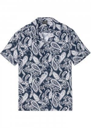 Рубашка с коротким рукавом bonprix. Цвет: белый