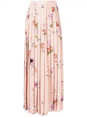 Юбка макси с цветочным принтом Giambattista Valli. Цвет: розовый