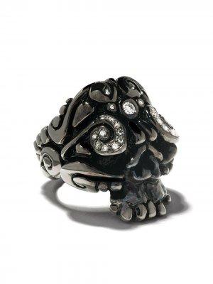 Кольцо с форме черепа Duffy Jewellery. Цвет: черный
