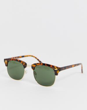 Черепаховые солнцезащитные очки в стиле ретро eco friendly-Коричневый Selected Homme