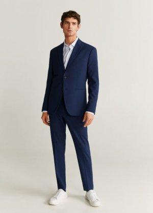 Костюмный пиджак slim fit из шерсти - Travel Mango. Цвет: чернильный