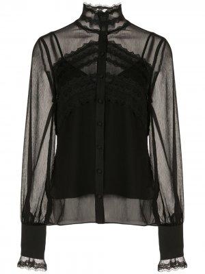 Блузка Maia с кружевными вставками Alexis. Цвет: черный