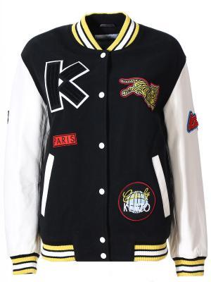 Куртка-бомбер с аппликациями KENZO