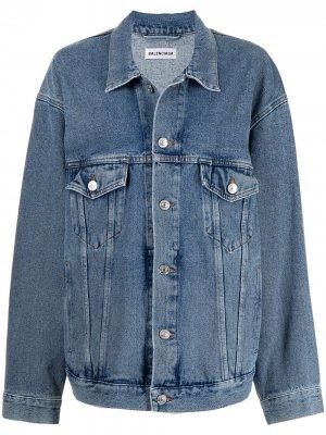Джинсовая куртка с логотипом Balenciaga. Цвет: синий