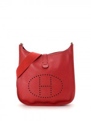 Сумка на плечо Evelyne I GM pre-owned Hermès. Цвет: красный