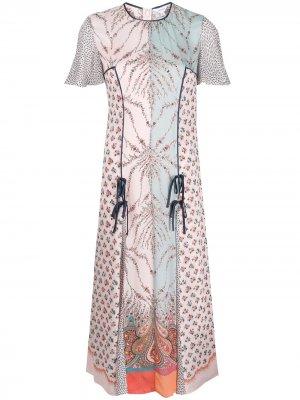 Платье миди Vita с принтом Liberty London. Цвет: синий