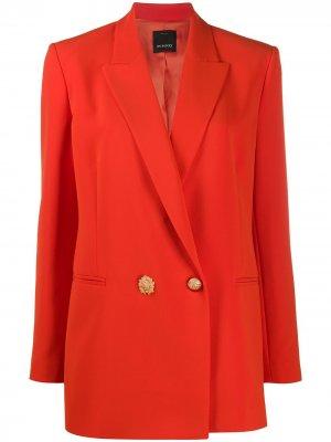 Двубортный блейзер Pinko. Цвет: оранжевый