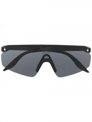 Солнцезащитные очки-маска Club House Snob. Цвет: черный