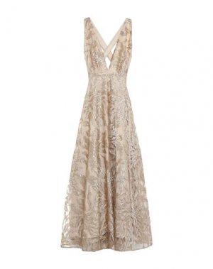 Длинное платье BABYLON. Цвет: золотистый