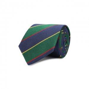 Шелковый галстук Dal Lago. Цвет: синий