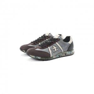 Комбинированные кроссовки Lucy Premiata. Цвет: серый