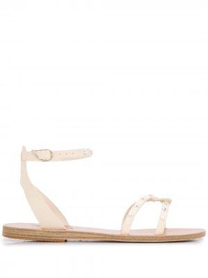 Сандалии Koufonisi с заклепками Ancient Greek Sandals. Цвет: белый