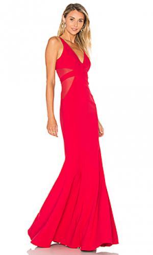 Вечернее платье rockefeller Jay Godfrey. Цвет: красный