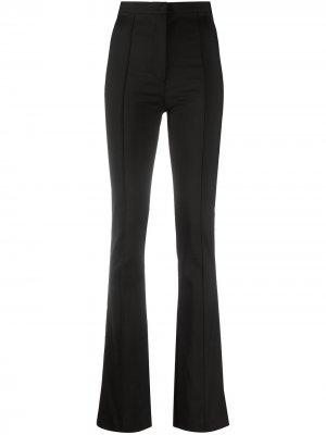 Расклешенные брюки с завышенной талией Patrizia Pepe. Цвет: черный
