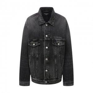 Джинсовая куртка Balenciaga. Цвет: серый