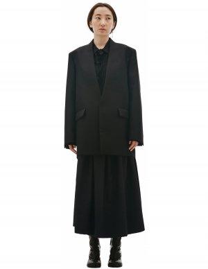 Черный пиджак из шерсти Jil Sander