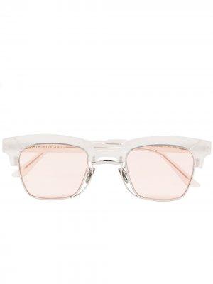 Солнцезащитные очки N6 в оправе кошачий глаз Kuboraum. Цвет: белый