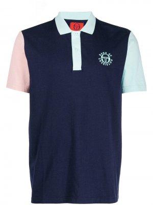 Рубашка-поло в стиле колор-блок Band Of Outsiders. Цвет: синий