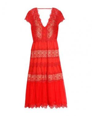 Платье длиной 3/4 CATHERINE DEANE. Цвет: красный