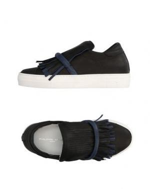 Низкие кеды и кроссовки PHILIPPE MODEL. Цвет: черный