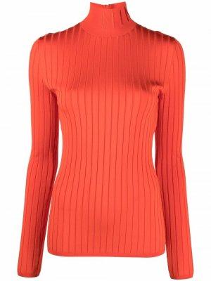 Джемпер в рубчик с высоким воротником Nina Ricci. Цвет: оранжевый