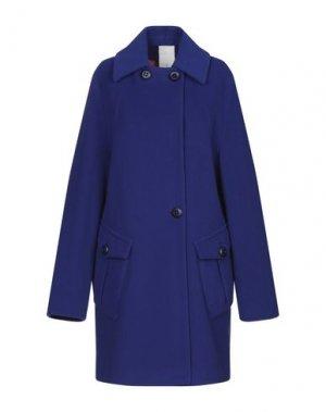 Пальто MANUELA CONTI. Цвет: синий