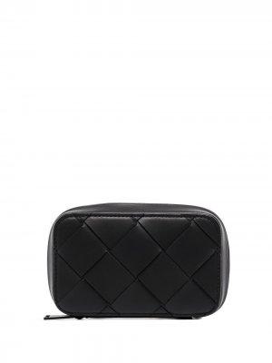 Клатч на молнии Bottega Veneta. Цвет: черный