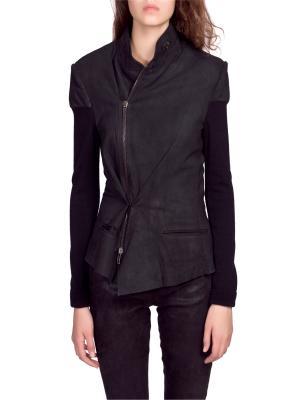 Кожаная куртка Haider Ackermann. Цвет: черный