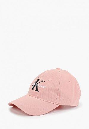 Бейсболка Calvin Klein Jeans. Цвет: розовый