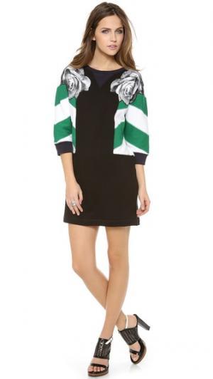 Платье-толстовка с рукавами в полоску Emma Cook