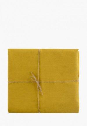 Скатерть Tkano 143х250. Цвет: желтый