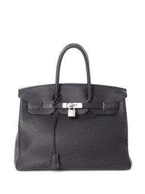 Сумка Birkin 35 pre-owned Hermès. Цвет: черный