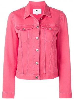 Джинсовая куртка 7 For All Mankind. Цвет: розовый