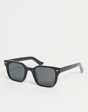 Черные квадратные солнцезащитные очки в стиле унисекс Lovejoy-Черный цвет Spitfire