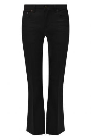 Укороченные расклешенные джинсы Saint Laurent. Цвет: черный