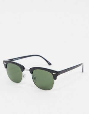 Черные солнцезащитные очки в квадратной оправе -Черный Selected Homme
