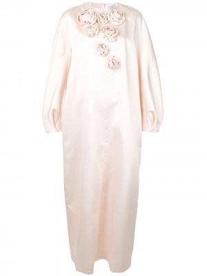 Платье макси асимметричного кроя Dice Kayek. Цвет: розовый
