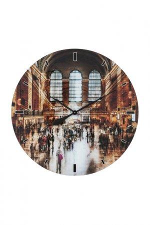 Часы настенные 80 см Kare. Цвет: коричневый, серый