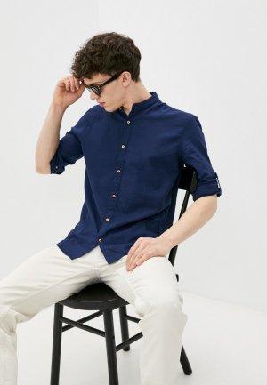 Рубашка Al Franco. Цвет: синий