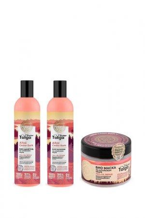 Набор для волос Восстановление Natura Siberica. Цвет: белый