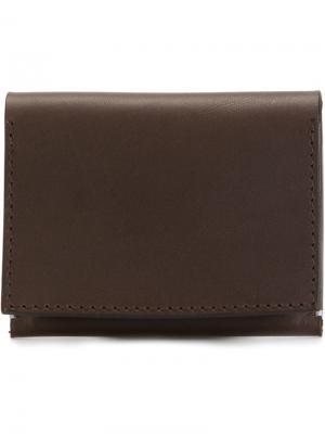 Плоский бумажник Troubadour. Цвет: коричневый
