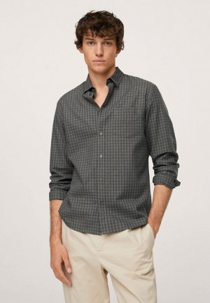 Рубашка Mango Man VICHOT. Цвет: серый