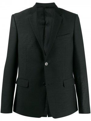 Пиджак с логотипом FF Fendi. Цвет: черный