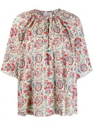 Блузка с цветочным принтом Antik Batik. Цвет: бежевый