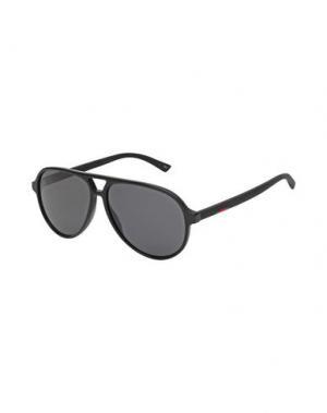 Солнечные очки GUCCI. Цвет: черный