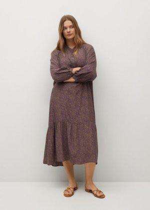 Длинное платье с принтом - Wilson Mango. Цвет: пастельный светло-пурпурный