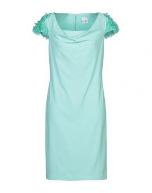 Платье до колена PF PAOLA FRANI. Цвет: светло-зеленый