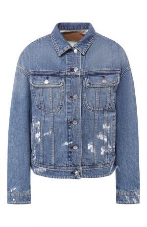 Джинсовая куртка с потертостями Acne Studios. Цвет: синий