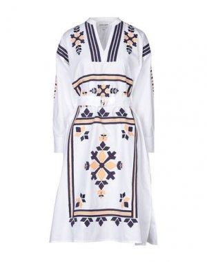 Платье миди ANTIK BATIK. Цвет: белый